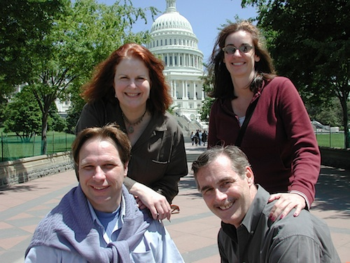 Producer Marsha Roberts (back, left), Actors Bobbi Kravis & Bob Curren (front, right) and stage mgr. Wade Wood visit our nation's capital.