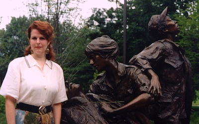 A former nurse herself, Producer Marsha Roberts visits the Vietnam Nurses Memorial