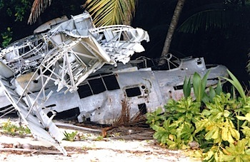 This wrecked PBY is right our of an Indian Jones movie