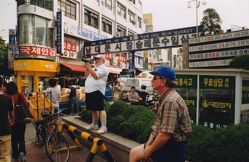 Playwright/Director Robert Rector tries to capture on video Seoul's  colorful hustle and bustle