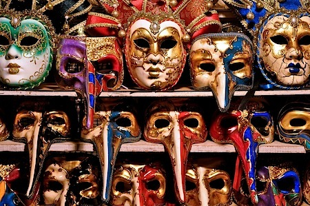 An authentic Venetian carnival mask is a prized possession